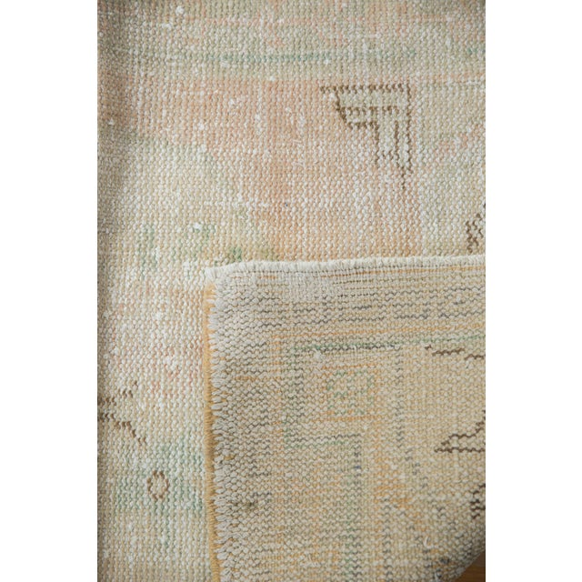 "Textile Vintage Distressed Oushak Rug - 2'9"" X 4'1"" For Sale - Image 7 of 8"