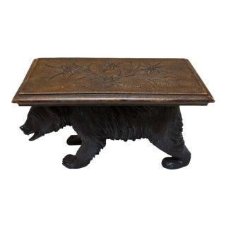 Vintage Mid Century Black Forest Bear Table/Pedestal For Sale