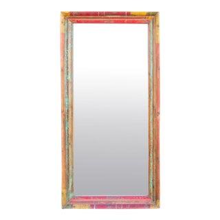 Antique Portuguese Painted Mirror For Sale