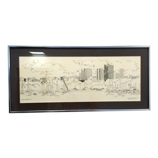 Steve Slaske Original Print Milwaukee 1978 For Sale