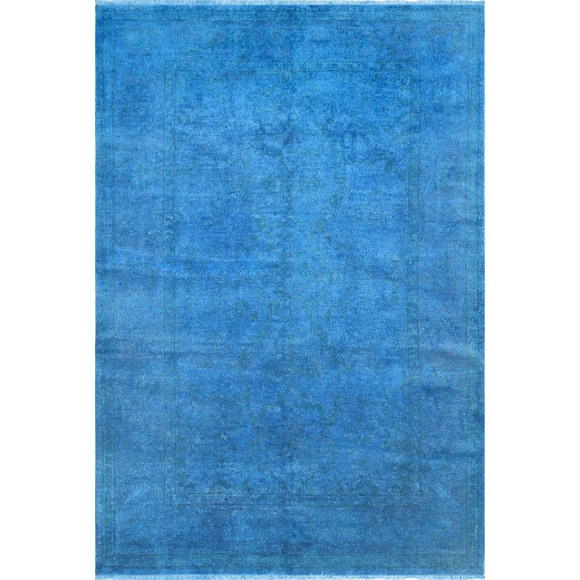 "Blue Over-Dyed Rug - 6'1"" X 8'11"" - Image 1 of 4"