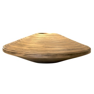 Medium Spun Bamboo Vessel/Vase For Sale