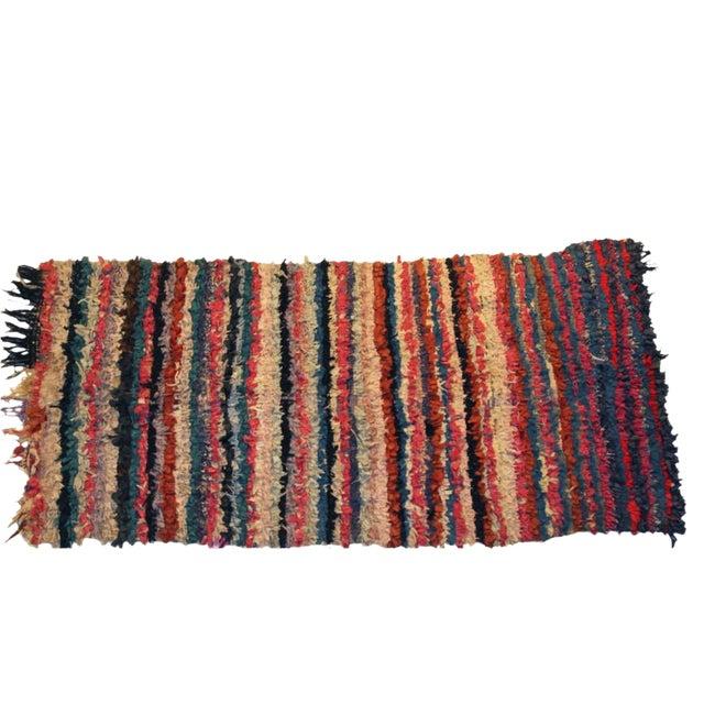 """Vintage Boucherouite Carpet - 6'6"""" X 3'2"""" - Image 1 of 3"""