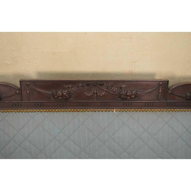 Federal Federal Style Antique American Custom Mahogany Frame Sofa For Sale - Image 3 of 13