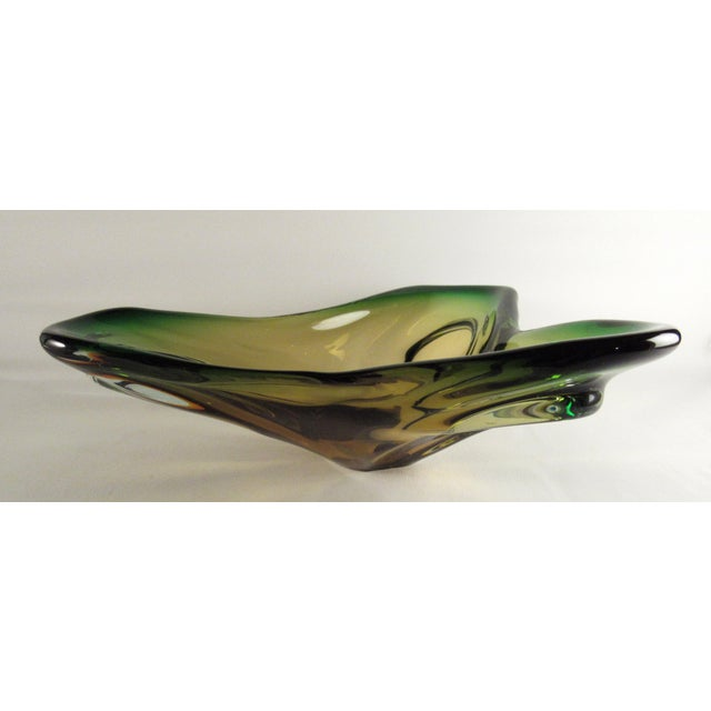 Mid-Century Murano Glass Centerpiece Bowl For Sale - Image 9 of 10