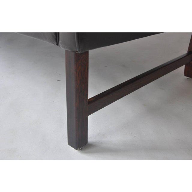 Animal Skin Fredrik Kayser Leather and Rosewood Sofa For Sale - Image 7 of 8