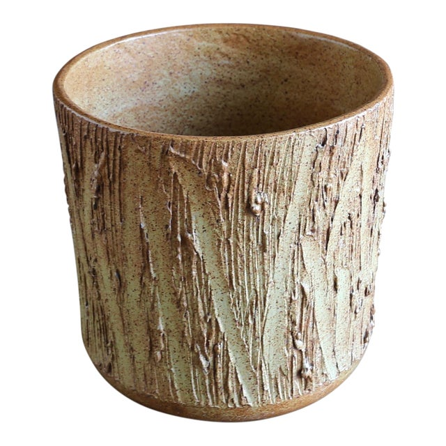"""1970s David Cressey for Architectural Pottery """"Scratch"""" Texture Planter For Sale"""