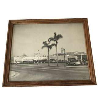 Vintage Signed Framed California Photo For Sale