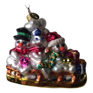 Snowmen in Sled with Pillsbury Doughboy Ornament by Radko