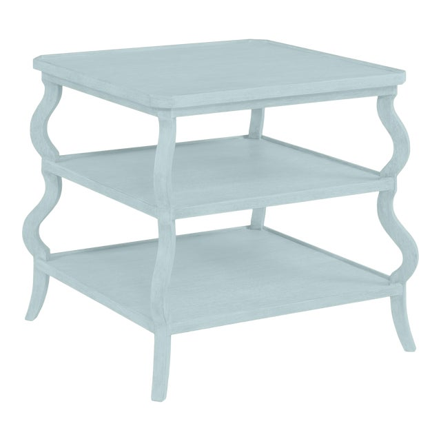 Abbott Tiered Side Table, Palladian Blue For Sale
