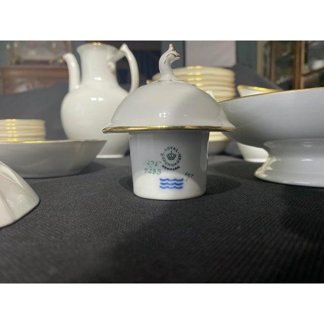 White 1960s Tea Set by Royal Copenhagen - Set of 35 For Sale - Image 8 of 10