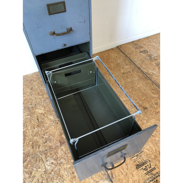 Vintage Lyon Metal Products Steel File Cabinet For Sale In Portland, ME - Image 6 of 12