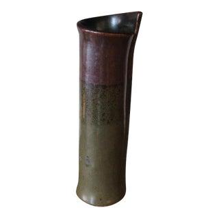 Studio Pottery Slab Vase For Sale