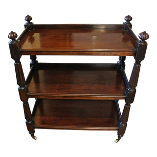19th Century English Traditional Butler's Mahogany Etagere For Sale