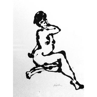 """Pose"" Ink Drawing For Sale"