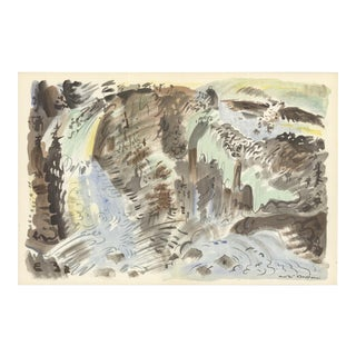 "Andre Masson Le Torrent 14"" X 21"" Lithograph 1953 Multicolor, Gray For Sale"