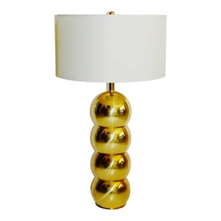 1970's Hollywood Regency Brass Orb Lamp by George Kovacs For Sale