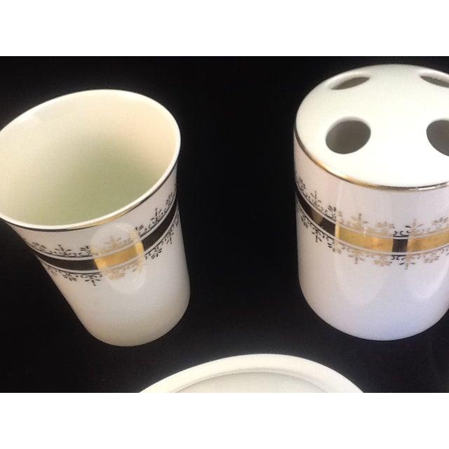 Vintage Japanese Porcelain Bath Set - 5 Pieces - Image 5 of 7