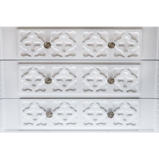 White Lacquer Trellis Dresser - Image 3 of 6