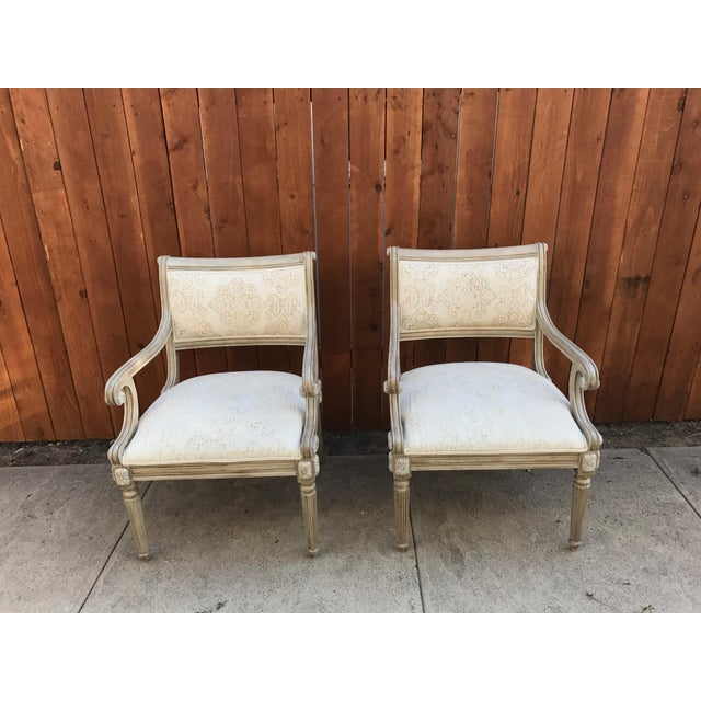 French Kreiss Collection Upholstered Chairs - A Pair For Sale - Image 3 of 8