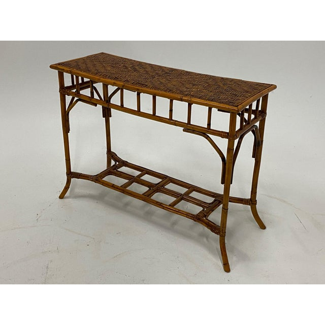 Organic Modern Bamboo and Rattan Console For Sale - Image 10 of 12