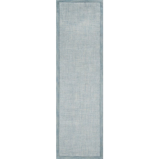 2010s Contemporary Momeni Delhi Hand Tufted Blue Wool Area Rug - 8' X 10' For Sale - Image 5 of 6