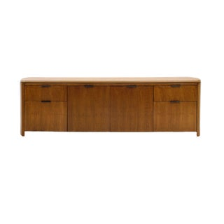 1960s Leather Top Credenza by Edward Wormley for Dunbar For Sale