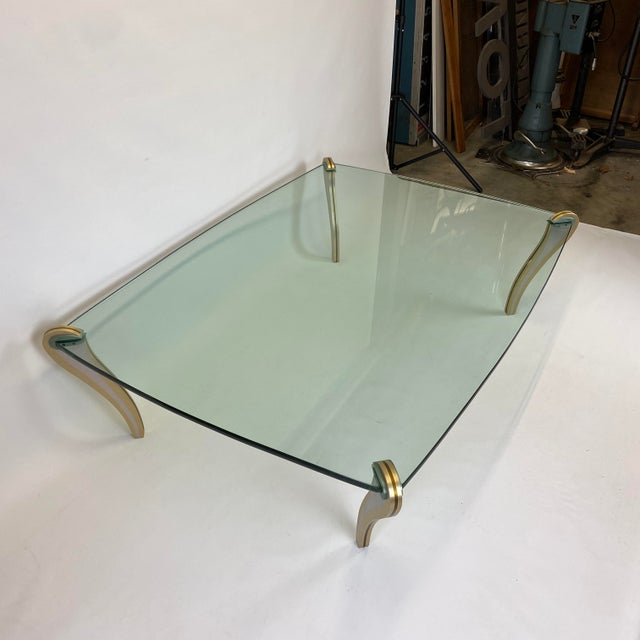 Postmodern Metal & Glass Studio Made Coffee Table by Peter Handler For Sale - Image 4 of 13