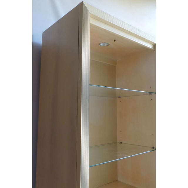 Modern Split Reed Lighted Cabinets - A Pair - Image 7 of 11