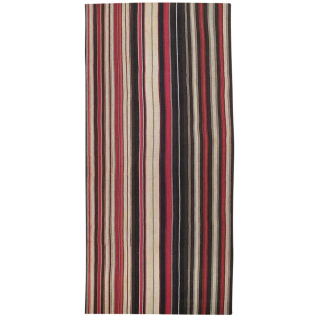Large Kilim with Vertical Bands For Sale