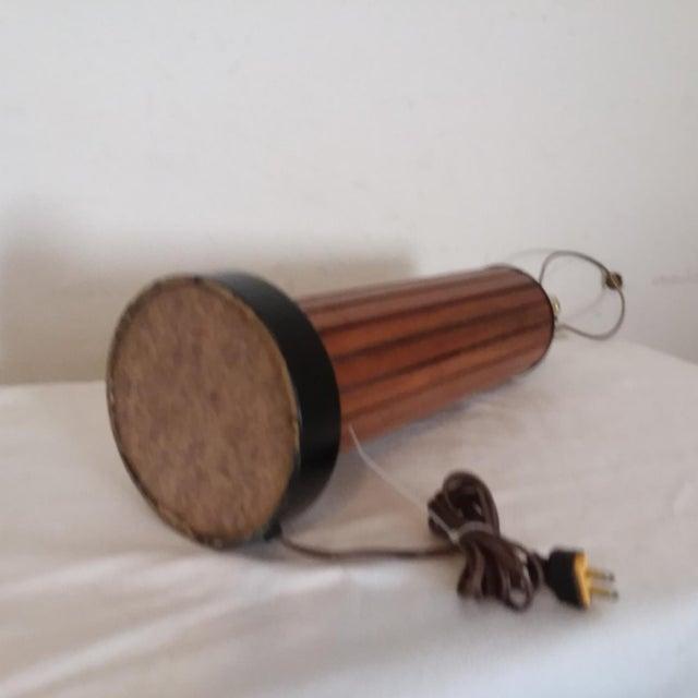 Boho Chic Mid Century Modern Teak Lamp For Sale - Image 3 of 5