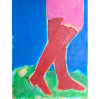 Spring in Her Step Painting For Sale