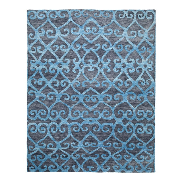 Modern Mandala Collection - Customizable Adriatic Rug (10x14) For Sale - Image 3 of 3