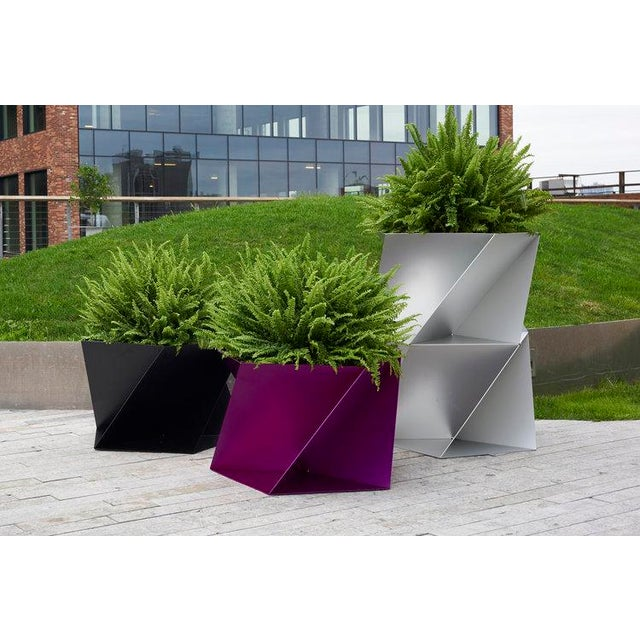 Abstract Fuchsia Pentagami Planter For Sale - Image 3 of 4