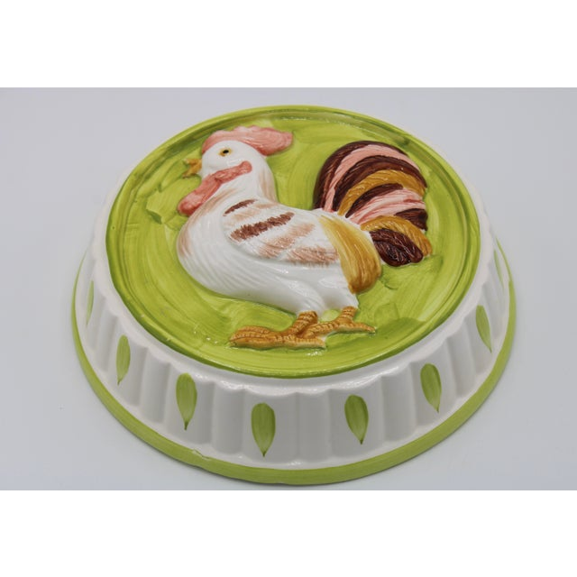 Ceramic Vintage Country French Farmhouse Ceramic Rooster Hanging Mold For Sale - Image 7 of 11