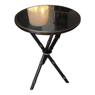 Bamboo Bronze Finished Side Table For Sale