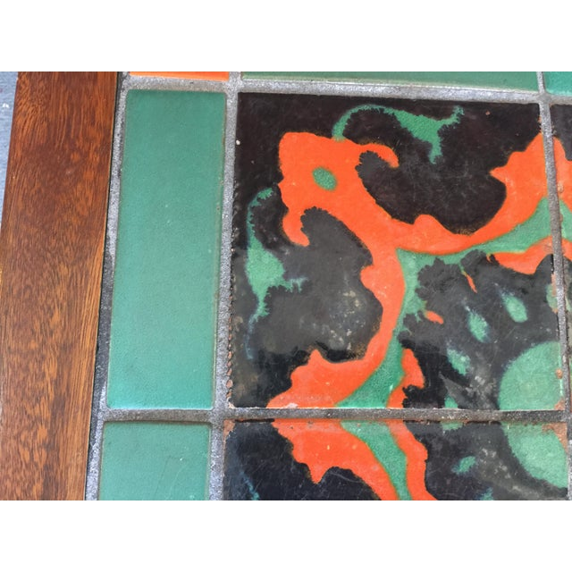 Calfornia Catalina Tile Top Table Mission For Sale - Image 4 of 8
