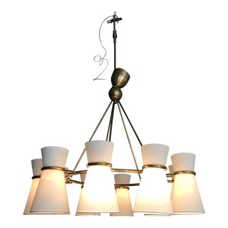 Visual Comfort Aerin Clarkson Brass Chandelier For Sale