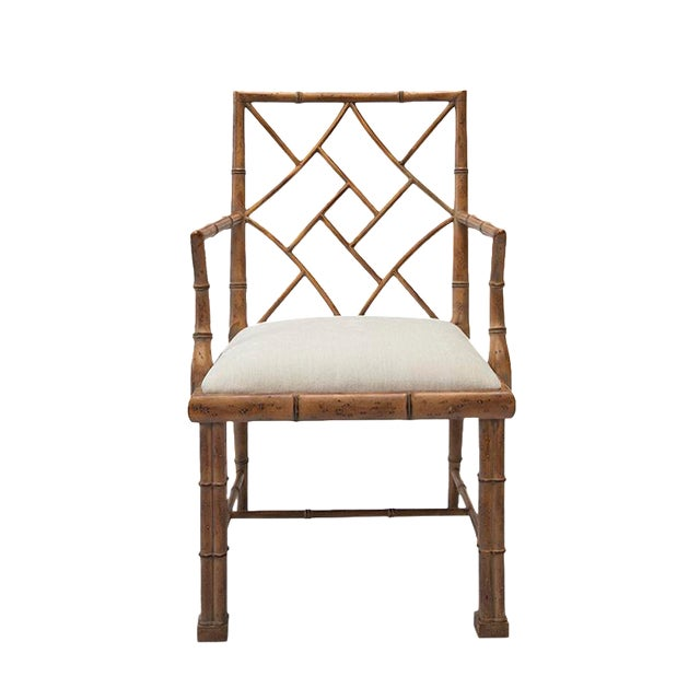 1970's Chinoiserie Chippendale Bamboo Side Chair - Image 1 of 4