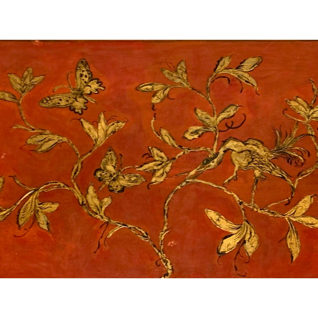 Italian Hand Painted Chinoiserie Chest For Sale - Image 9 of 13