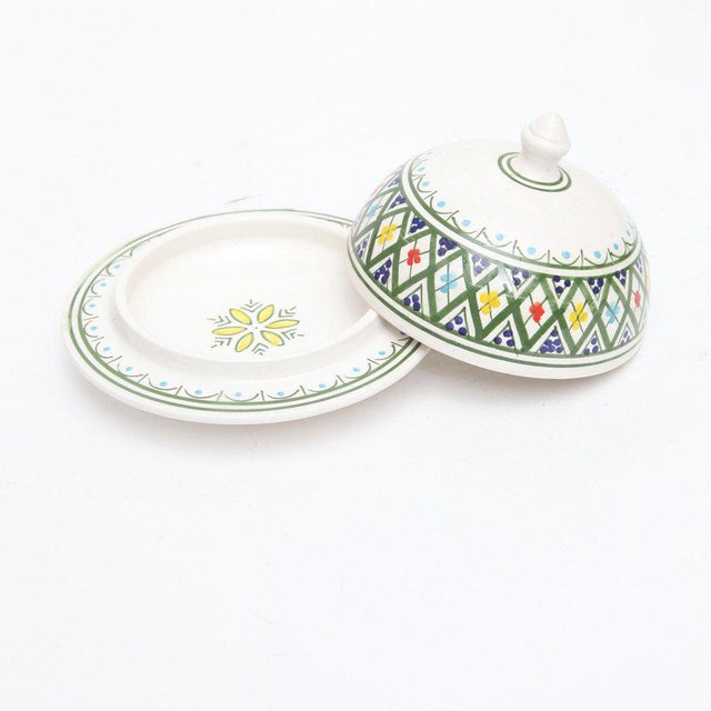 Hand Painted Moroccan Ceramic Serving Tajine - Image 3 of 3