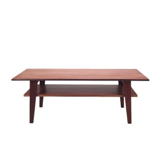 1960s Danish Modern Teak Coffee Table For Sale