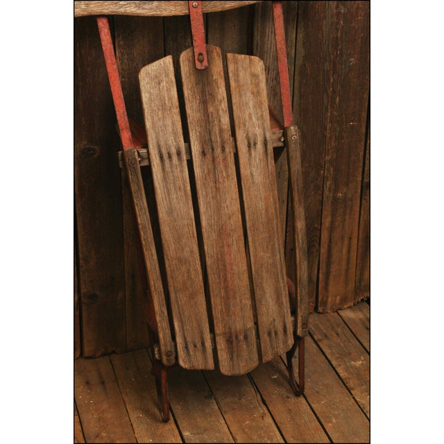 Vintage Weathered Wood & Metal Runner Sled -- Champion - Image 6 of 10