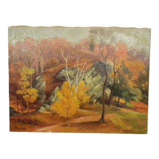 Autumn Landscape Signed Buchholz For Sale