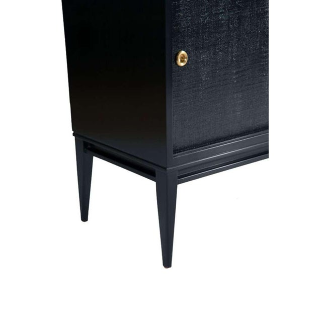 2010s Bishop Lacquered Linen Door Console For Sale - Image 5 of 5