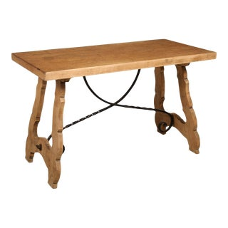 1940s Spanish Oak Dining Table For Sale
