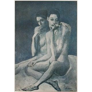 1948 Original Picasso Les Deux Ames Monochrome Lithograph For Sale