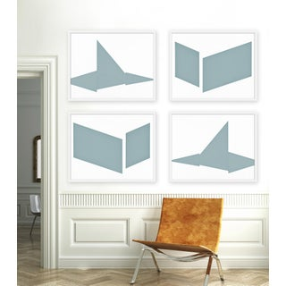 """XL """"Compositions in Blue, Set of 4"""" Print by Jason Trotter, 60"""" X 48"""" Preview"""