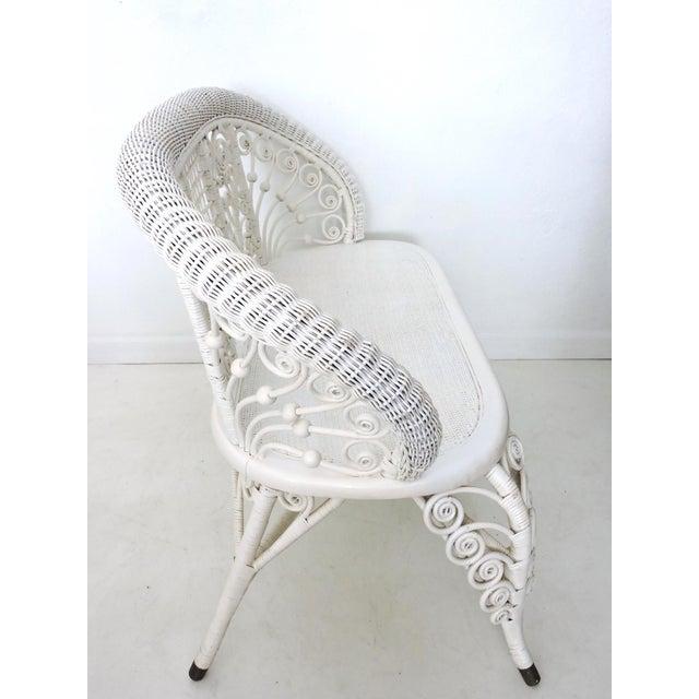Heywood Wakefield Wicker Two Seat Settee/Love Seat - Image 3 of 8