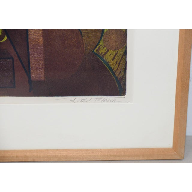 Metal Roland Petersen Original Abstract Etching W/ Aquatint C.1970s For Sale - Image 7 of 12